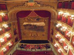 This is Teatro Verdi in Salerno, Italy  On my first night in the city i had the chance to see La Traviata, my first Opera live