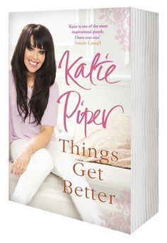 Loving the cover shot chosen for Katie Piper - Things Get Better.  The shoot day was great fun
