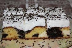 Výborný koláč s tvarohom a slivkovým lekvárom (zdroj: Naničmama. Nutella, Tiramisu, Cheesecake, Food And Drink, Pudding, Treats, Baking, Ethnic Recipes, Sweet