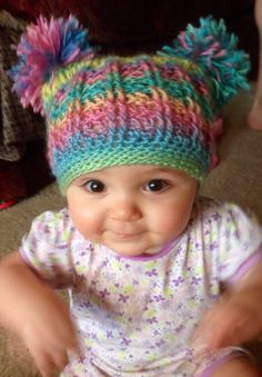 Crochet double pompom for my little Imogene ( made by me ) see also #mycrochetdesigndoublepompomhat on Instagram for more of my crochet designs and other projects from other crochet patterns. Crochet Designs, Crochet Patterns, Baby Hats, Crochet Baby, Crochet Projects, Knitted Hats, Beanie, Craft Ideas, Knitting