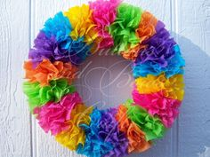 Handmade *Weather Resistant* BRIGHT EASTER Wreath #Handmade