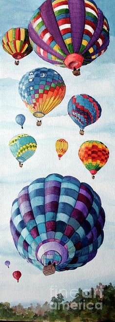 Balloon Fest Painting by Pamela B Smith