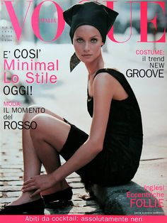AMBER VALLETTA  Italian Vogue Cover  August 1995
