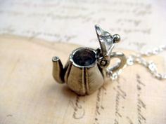 Hinged Tea Pot / Kettle - Pewter Charm