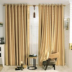 Stunning Gold Blackout Curtains <3