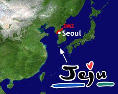 Jeju Island is off the coast of South Korea and is an amazing place to visit!