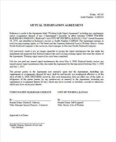 Employment Termination Letter Template Custom Employee Termination Letter Employee Termination Agreement .