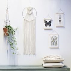 ● D E S C R I P T I O N  This gorgeous handmade macrame hanging is handmade with neutral cotton macrame cord and a metal ring.  With this macrame wall hanging youll instantly add a bohemian vibe to your room an it will really warm up a space. --- You can choose the dye color of your choice in the drop down menu while ordering. ---  - Olive green - Navy Blue - Grey  Please contact me for other color options.   ● D I M E N S I O N S This macrame wall hanging measures:  Ring diameter- 30 cm (…