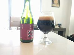 Noom by Burdock in Toronto bottle conditioned dark saison aged in cognac barrels for 15 months.. half of it ended up on my counter/roof upon opening #FavoriteBeers #summershandy #beers #footy #greatnight #beer #friends #craftbeer #sun #cheers #beach #BBQ