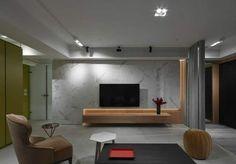 Lcd Units, Flat Interior Design, Living Room Partition, Living Room Tv Unit Designs, Tv Wall Decor, Ceiling Design, Apartment Design, Interior Architecture, Furniture Design