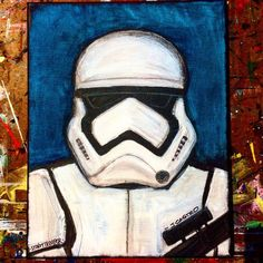 Oil painting - the living art! Easy Canvas Painting, Painting & Drawing, Canvas Art, Gouache Painting, Disney Canvas, Disney Art, Star Wars Drawings, Art Drawings, Star Wars Painting