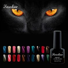Saroline 3D Ojos de Gato lucky color LED UV Soak-off Gel Barniz de laca UV de Uñas de Gel Polaco ULTRAVIOLETA DEL GEL Para Uñas arte