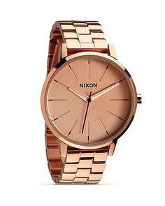 Nixon The Kensington All Rose Gold Watch, 36.5mm | Bloomingdale's- My New Watch!!! My Valentine's Present for myself <3
