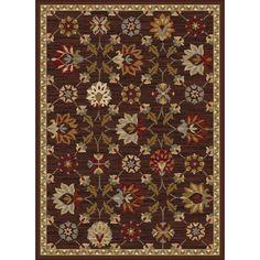 Alise Rhythm Floral Brown Area Rug (7'6 x 9'10)