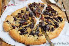 Tarte rustique prunes crème de pistache-2