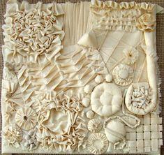 Embroidery fabric manipulation textile art ideas for 2019 Textile Texture, Textile Fiber Art, Fabric Textures, Textile Artists, Acrylic Paint On Fabric, Fabric Painting, Fabric Art, Fabric Crafts, Textile Manipulation