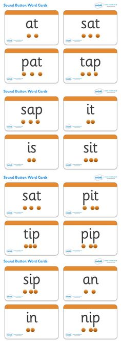 2 Sounds Button Word Cards - Pop over to our site at .uk and check out our lovely Letters and Sounds primary teaching resources! letters and sounds, phase button cards, word cards, flash cards, phonics Jolly Phonics Activities, Teaching Phonics, Primary Teaching, Teaching Resources, Read Write Inc Phonics, Phonics Flashcards, Phonics Worksheets, Jolly Phonics Phase 1, Phase 2 Phonics Games