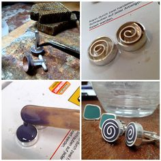 WIP - Lavender Spiral Cuff-links | Flickr - Photo Sharing!