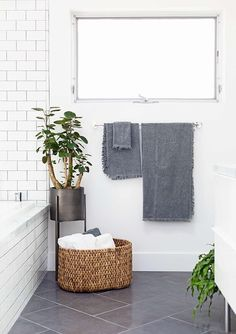 Find bathroom ideas for bathroom remodel and bathroom modern, bathroom design, bathroom vanity, bathroom inspiration and more with before and after bathrooms Read Modern Small Bathrooms, Small Bathroom Tiles, Bathroom Tile Designs, Grey Bathrooms, Laundry In Bathroom, Bathroom Flooring, Beautiful Bathrooms, Bathroom Ideas, Master Bathroom