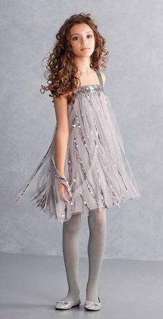 Biscotti Gatsby Girl Silver Strappy Dress *Preorder*