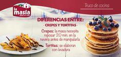 Los #crepes y las #tortitas son dos recetas internacionales, pero bastante clásicas y consumidas en nuestro país. ¿Sabes cuáles son sus diferencias?