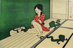 日本传统鬼神、浮世绘和性混合,佐伯俊男绘画赏