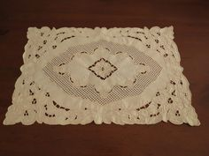 Linen Cutwork Embroidered Doiley by LouisaAmeliaJane on Etsy, $4.50