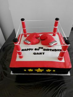 How To Make A Boxing Ring Birthday Cake