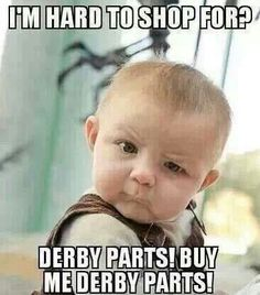 i love this my brother spends a lot for derby parts every year.