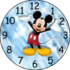 mickey mouse custom clock face image