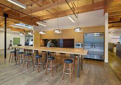 studio vara transforms retail building into new open office space building office pantry