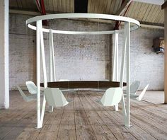 The King Arthur Round Swing Table on http://www.gearculture.com