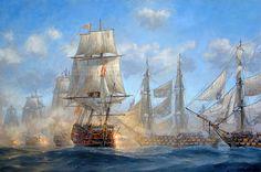 Patrick O'Brien. Battle of Trafalgar. J. Russell Jinishian Gallery, Inc.