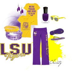 LSU outfit...purple and gold