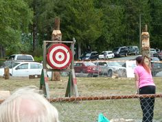 Axe throwing, Ucluelet. July 2015.