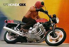 CBX 1050 Vintage Honda Motorcycles, Honda Bikes, Retro Motorcycle, Motorcycle Design, Honda Cbx, Bike Poster, Motor Scooters, Classic Bikes, Vintage Bikes