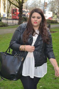 New Look Leather Jacket, Asos Sheer Peplum Tee.