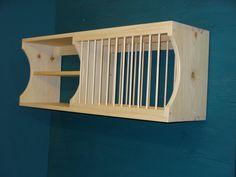 New Modern cabinet wood plate dish rack mugs glasses by holliwalt