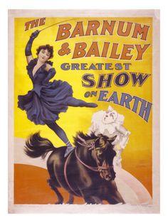 The Barnum & Bailey Greatest Show On Earth Circus Art, Circus Theme, Circus Room, Night Circus, Vintage Prints, Vintage Art, Vintage Circus Posters, Carnival Posters, Barnum Bailey Circus