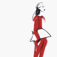 Fashion illustrations vol.2 by Kathy Murysina, via Behance