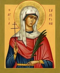 Orthodox Church in America~~~~St. Valentina the martyr of Palestine - February 10 Religious Icons, Religious Art, Married With Children, Religious Paintings, Byzantine Icons, Art Icon, Orthodox Icons, Old Master, Selling Art
