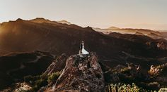 Dramatic mountain wedding portrait by Alexander Photography from our Top Pics of the Week