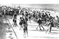 Undated photo of dancers on VB Boardwalk from Virginian Pilot archives