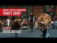 """I voted for """"Thrift Shop"""" to win the Phenomenon Award at the YouTube Mus..."""