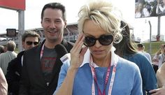 Pamela Anderson Photos: Annoyed Pam Appears To Dodge Keanu Reeves At U.S. Grand Prix. It's not clear if there is actually bad blood between the actors, or if the photos just caught Pamela Anderson off guard. It appears from the angle of the photo that she may not have seen Reeves, who is standing behind her, and the seemingly annoyed look could just be Pamela adjusting her sunglasses.
