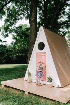 A-Frame Playhouse DIY #diy #playhouse
