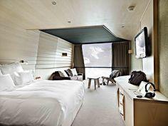 cool wooden bedroom interior