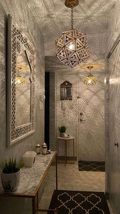 Moroccan Lighting, H Design, Brass Pendant, Floral Motif, Lighting Design, Craftsman, Mirror Lamp, Bulb, Rustic