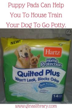 It can be a challenge to house train a new puppy. Puppy pads help them to know where to go potty and they also help protect your floors. Dog Pads, Puppy Pads, Puppy Training Tips, Training Your Dog, Puppy Aggression, Professional Dog Training, Dog Smells, Dog Potty, Dog Health Care