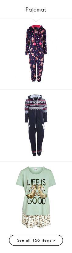 """Pajamas"" by blaizeg ❤ liked on Polyvore featuring intimates, sleepwear, long sleeve sleepwear, onesie, pajamas, pijama, sleep, pyjamas, disney sleepwear and disney pjs"
